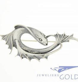 Silver fish brooch1950's