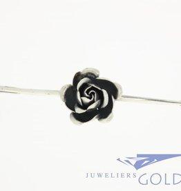 Vintage silver rose brooch 1950s- '60s