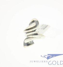Vintage zilveren ring jaren '50