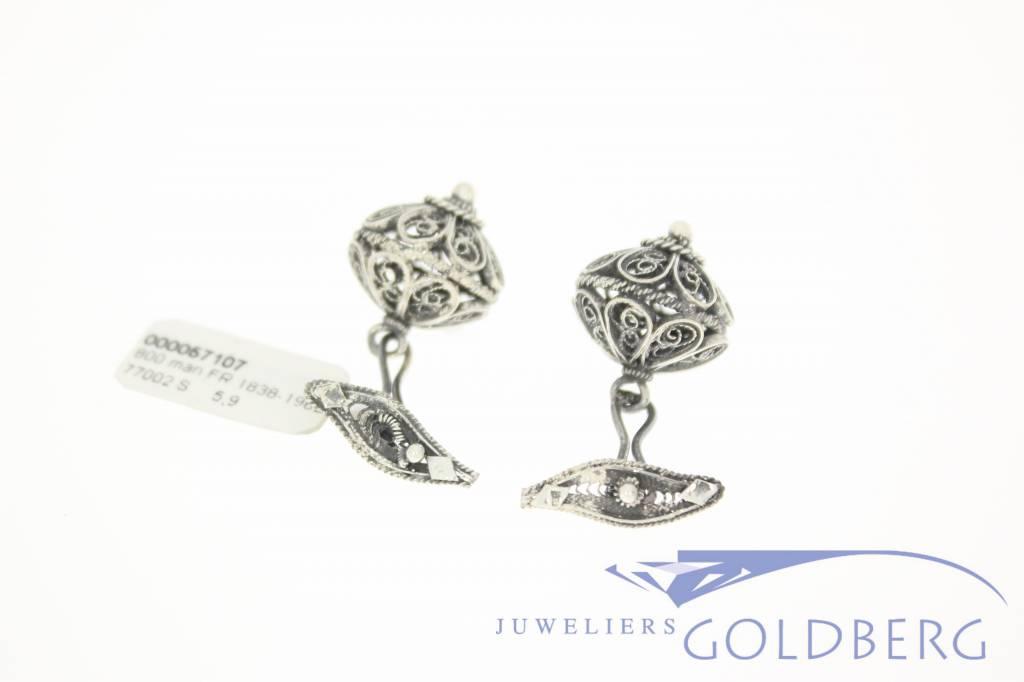 Antieke Franse zilveren manchetknopen