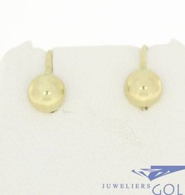 Vintage 14 carat gold spherical shaped earrings