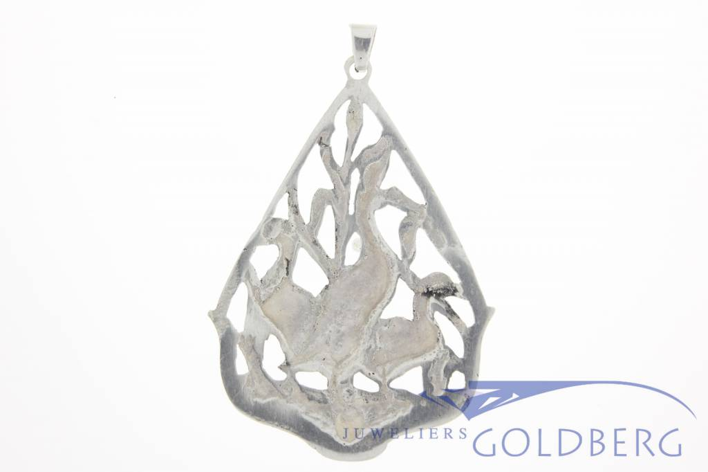 Antique silver pendant Domberg brothers Amsterdam 1944-1953