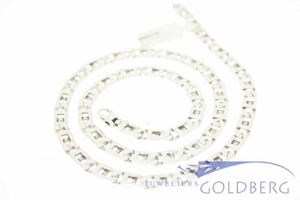 Silver mens chain Rolex link