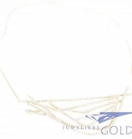 Vintage zilveren design choker collier