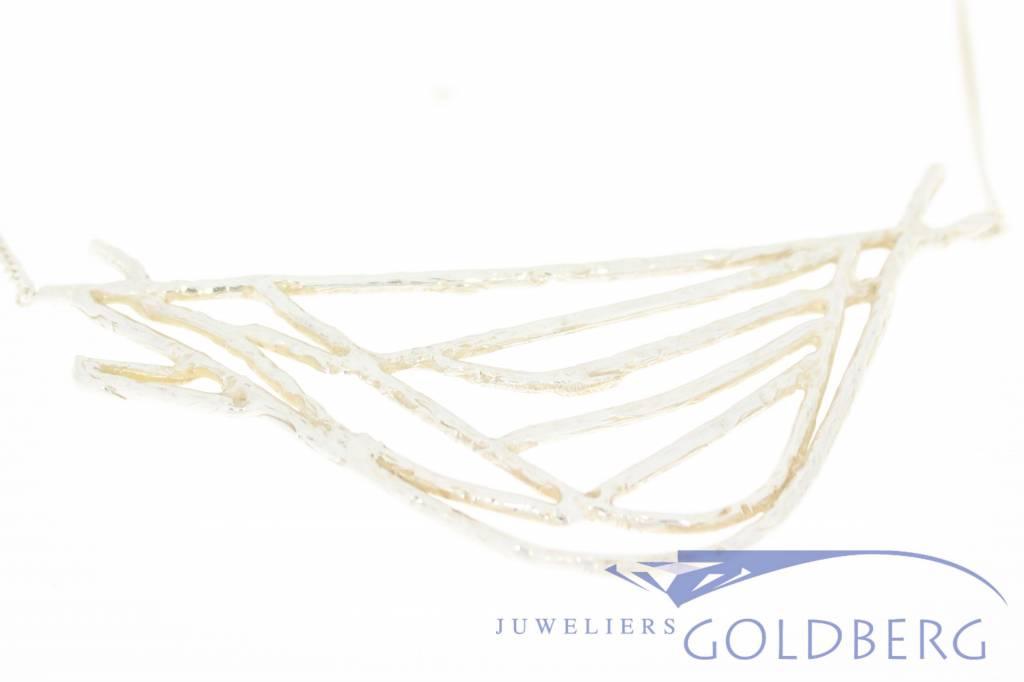 Vintage silver design choker necklace