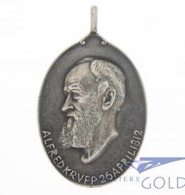 Antieke zilveren Herdenkings Penning Alfred Krupp 1912