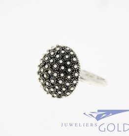 Vintage silver ring with filigree work