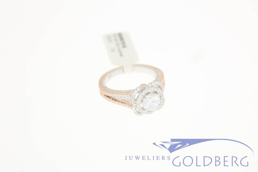 rose gold plated silver gala ring