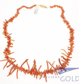 "vintage red coral/precious coral ""twigs"" necklace 1960's"