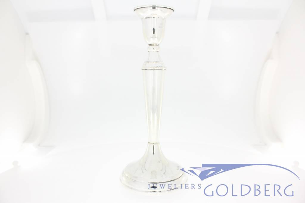 Vintage silver candlestick 1960, Dutch