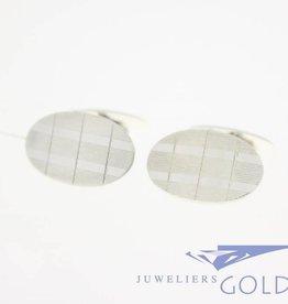 Vintage zilveren manchetknopen jaren '70