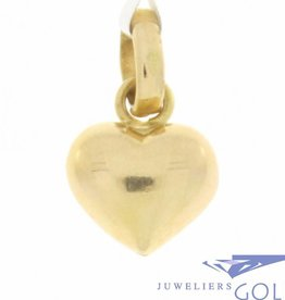 Delicate vintage 14 carat gold tiny heart pendant