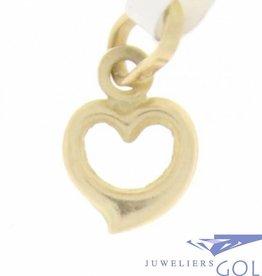 Delicate vintage 14 carat gold open heart pendant