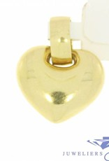 Robust 14 carat gold heart-shaped pendant