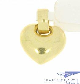 Strakke vintage 14k gouden hartvormige hanger