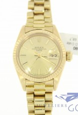 Rolex oyster perpetual Date Lady 18k gold