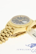 Rolex oyster perpetual Datejust Lady 18k gold black dial
