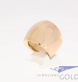 Large rose gold design ring by Monzario
