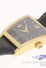 Corum Trapeze 82.404.56 Automatic 18K Gold w/Black Dial and strap