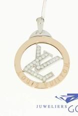 Vintage 18k gold Louis Vuitton pendant with diamonds