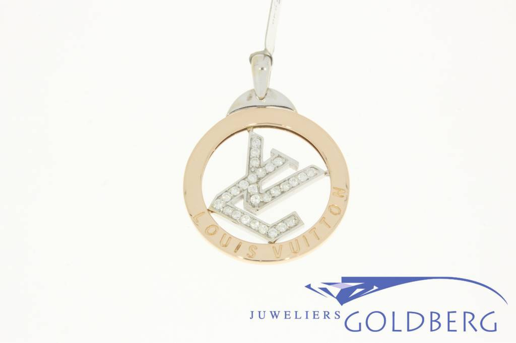 Vintage 18k gold louis vuitton pendant with diamonds goldberg vintage 18k gold louis vuitton pendant with diamonds mozeypictures Image collections