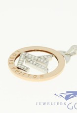 18k gouden hanger Louis Vuitton met diamant