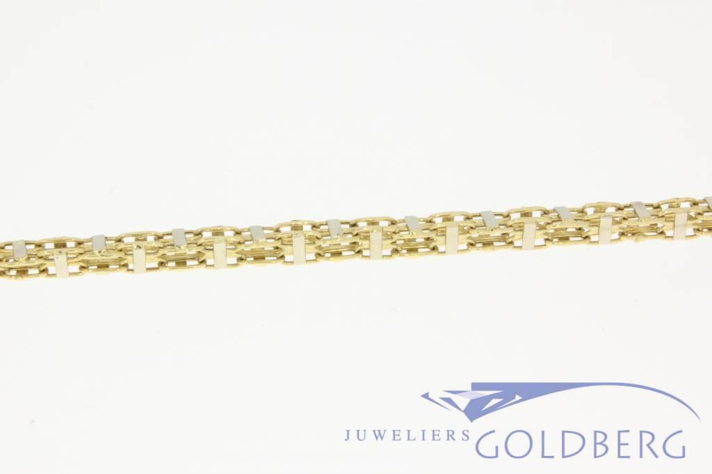 Bicolor 18k gold men's necklace 70cm