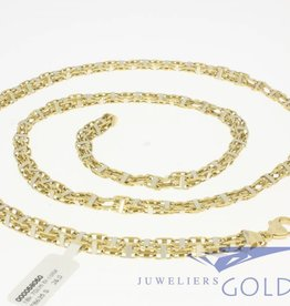 Bicolor 18k gold men's necklace 70cm