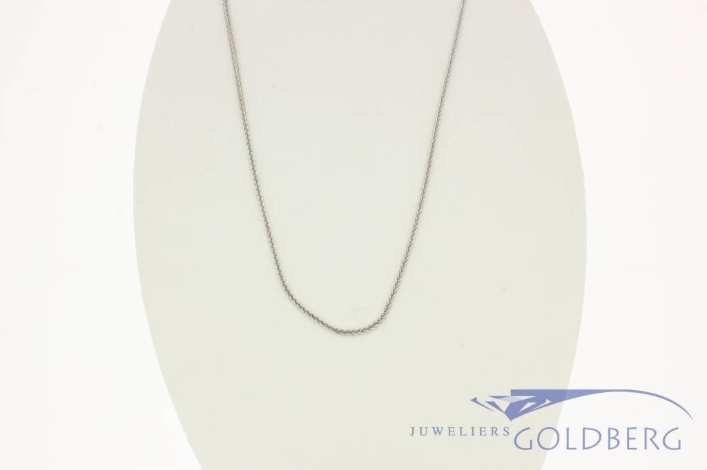 18k white gold Venetian necklace.