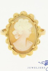 Vintage 18 carat gold ring with cameo