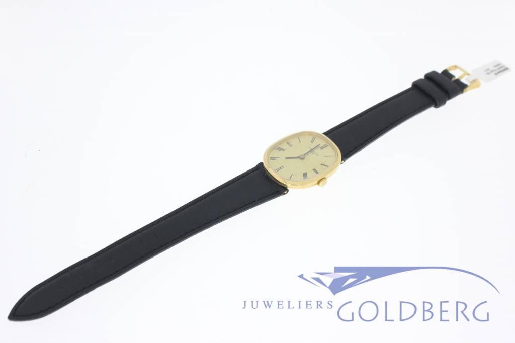 Vintage Patek Philippe Ellipse 3548 18k goud met lederen band