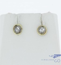 Antique 14 carat gold earrings with zirconia 1906-1953