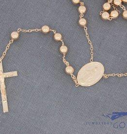 14k rose gold rosary