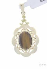 Vintage 14 carat gold pendant with tiger eye