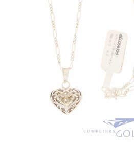 Silver necklace with heart