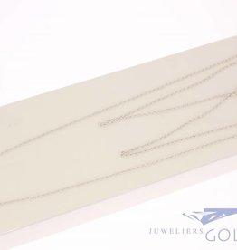 Vintage silver anchor necklace 1,8mm 80cm