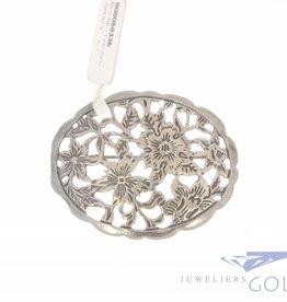 Vintage silver brooch flowers