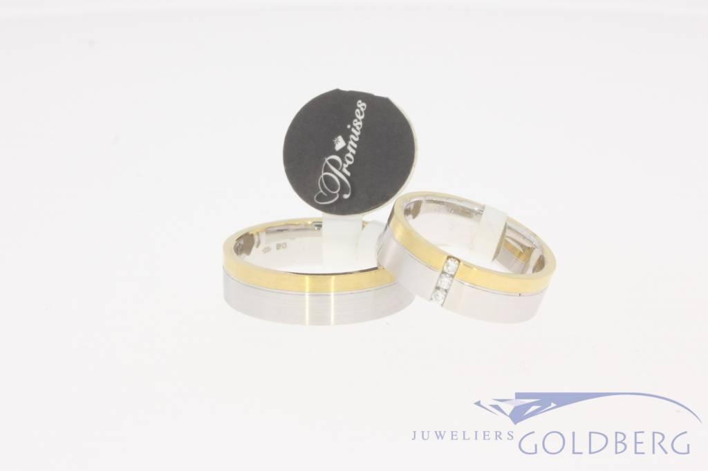 Wedding band set Promises 551-65 + 552-65