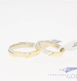 Vintage gold wedding ring set by Promises