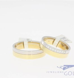 Bicolor gold wedding ring set by Desiree, model 521-6