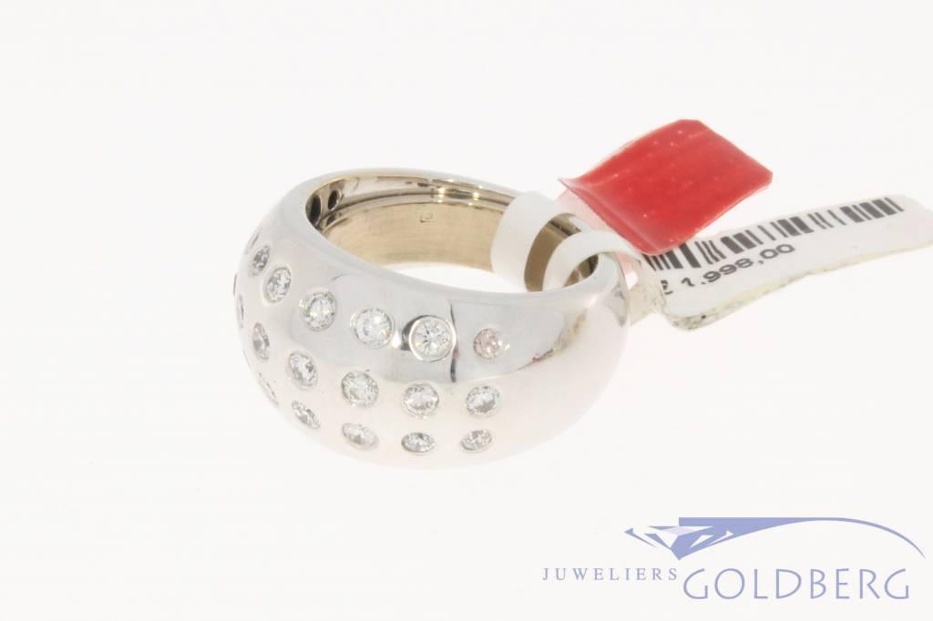 Vintage 18k witgouden ring 0.96ct briljant
