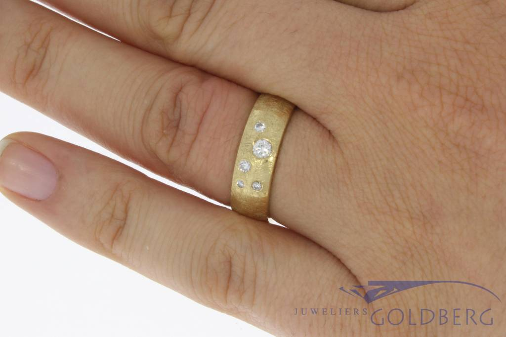 14 carat gold ring with diamond made in our workshop