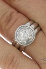 Vintage 18 carat white gold ring 1.40ct diamond