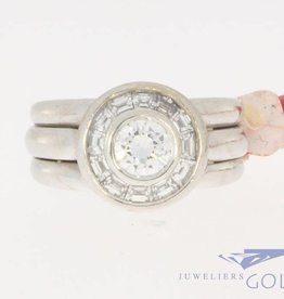 Vintage 18 carat white gold ring 1.40ct diamond