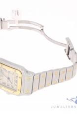 Vintage  Cartier Santos Galbée 187901 stalen/18k bicolor horloge