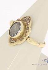 Vintage 14 carat gold ring with aquamarine