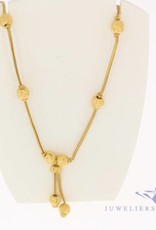 Vintage 20 carat gold decorated necklace