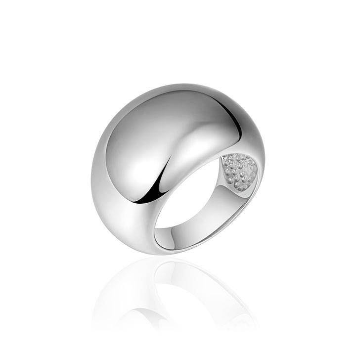 Grote gladde zilveren ring
