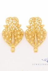 Vintage 18 carat gold edited earrings