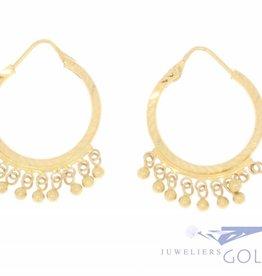 Vintage 20 carat gold creoles